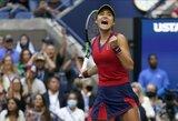 """Nuo kvalifikacinio etapo """"US Open"""" turnyrą pradėjusi 18-metė E.Raducanu tapo čempione"""