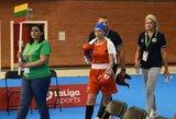 A.Starovoitovai Europos moterų bokso čempionatas buvo nesėkmingas – teisėjas nutraukė kovą anksčiau laiko