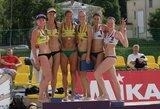 Vilniuje vykusiame Rytų Europos moterų paplūdimio tinklinio čempionate visus medalius iškovojo rusės, lietuvės liko penktos