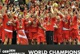 Daugiatūkstantinės fanų minios palaikyti danai pirmą kartą laimėjo pasaulio čempionatą