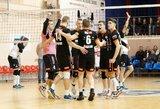 Dramatiškame Lietuvos tinklinio čempionato pusfinalyje prireiks lemiamų rungtynių