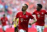 """F.Ribery sužaidė rekordinį rungtynių skaičių """"Bayern"""""""