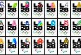 Los Andželo olimpiados organizatoriai pristatė nuolat besikeičiantį logotipą: prisidėjo ir B.Eilish su R.Witherspoon
