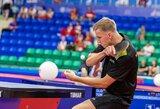 Pasaulio stalo teniso turo etape pergalę šventė tik T.Mikutis, M.Stankevičius susitiko su 28-ąja pasaulio rakete