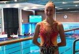 N.Ambrazaitė išmėgino jėgas Europos jaunimo sinchroninio plaukimo čempionate