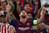 """Čempionų lygos starte – L.Messi """"hetrikas"""" ir raudona """"Barcelona"""" kortelė, """"Inter"""" iškovojo dramatišką pergalę"""
