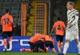 """Čempionų lyga: grubiai gynyboje klydęs """"Man Utd"""" Turkijoje patyrė pralaimėjimą"""