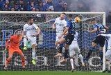 """Italijoje nutrūko septynių iš eilės """"Inter"""" pergalių serija"""