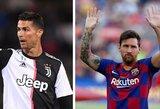 """Apie konkurenciją prabilęs C.Ronaldo: """"L.Messi padeda man tapti geresniu žaidėju"""""""