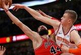"""Paskutiniame kėlinyje subyrėjusi """"Knicks"""" pralaimėjo Čikagoje"""