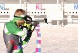 Lietuviai startavo pasaulio jaunių biatlono čempionate