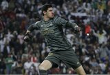 """T.Courtoisas apie laukiantį Madrido derbį: """"Šiose rungtynėse niekada negali atsipalaiduoti ar jaustis ramiu"""""""