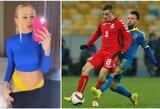 Ukrainos futbolo rinktinės žaidėjo žmonai po dar vieno kontroversiško įrašo gresia kalėjimas