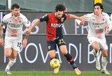 """""""Milan"""" nesugebėjo įveikti """"Serie A"""" lygos autsaiderių, """"Inter"""" susitvarkė su """"Napoli"""""""
