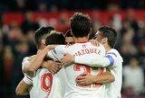 """Ispanijos taurėje – pirmoji """"Sevilla"""" pergalė, """"Valencia"""" sužaidė lygiosiomis"""