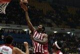 """Lemiamu metu tiksliau sužaidęs """"Olympiacos"""" klubas palaužė Eurolygos debiutantus"""