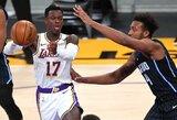 """""""Lakers"""" be savo žvaigždžių laimėjo antrą kartą iš eilės"""