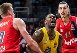 """Kovoje dėl vietos Eurolygos stipriausiųjų aštuonete – """"Maccabi"""" išvykoje įveikė """"Bayern"""""""