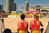 Lietuvos vaikinai pergalingai pradėjo Rytų Europos jaunių paplūdimio tinklinio čempionatą
