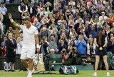R.Federeris užbaigė R.Berankio skriaudiko svajonių žygį Vimbldone