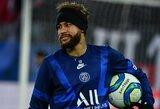 """""""Montpellier"""" puolėjas A.Delortas metė Neymarui kaltinimus dėl pagarbos trūkumo"""