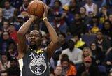 K.Durantas ir S.Curry atvedė NBA čempionus į pergalę