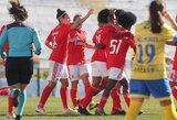"""32 įvarčius pelniusi """"Benfica"""" moterų komanda pasiekė rekordą Portugalijoje"""