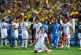 """Kolumbija užsitikrino vietą """"Copa America"""" ketvirtfinalyje, JAV savo fanus pradžiugino įvarčiais"""