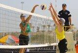 Paplūdimio tinklininkai A.Rumševičius ir L.Každailis Brazilijoje pasiekė įspūdingą pergalę