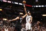 """""""Spurs"""" paskutiniame kėlinyje nepaliko vilčių """"Rockets"""" komandai"""