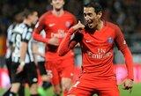 Puikiai išpildyti A.Di Marios įvarčiai atnešė pergalę PSG klubui