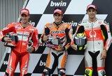 """M.Marquezas laimėjo Čekijos GP kvalifikaciją, """"Ducati"""" stebino greičiu"""