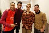 """""""Barcelona"""" žvaigždės įvertino J.Bieberio futbolo įgūdžius"""