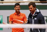 """Su teisėju konfliktavęs N.Djokovičius buvo nepatenkintas ir turnyro organizatoriais: """"Galvojau, kad skėtis yra skraidantis objektas"""""""