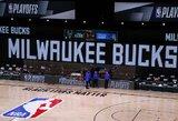 """""""Bucks"""" boikotavo rungtynes, atidėti """"Rockets"""" ir """"Thunder"""" bei """"Lakers"""" ir """"Trail Blazers"""" susitikimai"""