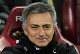 """J.Mourinho: """"Tikiuosi, kad į savo karjerą galėsiu žiūrėti su pasididžiavimu"""""""