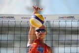 I.Dumbauskaitė ir M.Povilaitytė iškovojo pirmą pergalę Europos jaunimo paplūdimio tinklinio čempionate