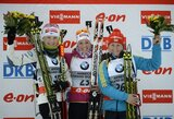 Lietuvės nesugebėjo patekti į pasaulio biatlono taurės persekiojimo lenktynes