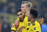 "E.B.Haalando įvarčiu pažymėta dar vieną ""Borussia"" pergalė Vokietijoje"