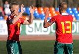 Europos čempionate žaisianti U-19 futbolo rinktinė treniruojasi Palangoje
