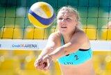 Lietuvės sėkmingai pradėjo pasaulio jaunių paplūdimio tinklinio čempionato atkrintamąsias varžybas