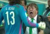 Meksikos trenerio emocijos rungtynėse su Kroatija prajuokino futbolo gerbėjus