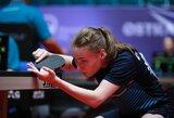 K.Riliškytė Čekijoje tik po dramatiškos kovos nepateko į pusfinalį