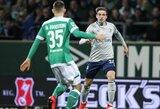 """Pirmąjį rungtynių įvartį praleidęs """"Werder"""" klubas susitvarkė su """"Schalke"""""""