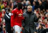 J.Mourinho galvos skausmas: prieš svarbias rungtynes – nerimas dėl R.Lukaku traumos