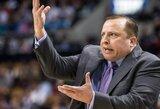 """K.Bryanto pageidavimas – T.Thibodeau, bet """"Lakers"""" nusitaikė į NCAA finalininkų strategus"""