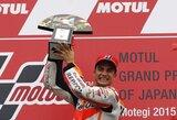 Permainingose Japonijos GP lenktynėse – netikėta D.Pedrosos pergalė