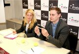 """FedCup"": varžybų starte Lietuvos tenisininkių laukia akistata su egiptietėmis"