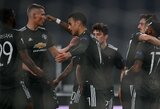 "Europos lygos šešioliktfinalis: B.Fernandeso dublis paženklintas užtikrinta ""Man Utd"" pergale prieš ""Real Sociedad"""