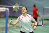 """Badmintonininkė A.Stapušaitytė: """"Atvykau nugalėti ir įrodyti, kad vis dar esu geriausia šalyje"""""""